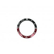 Inserto in ceramica nero rosso compatibile per ghiera Rolex GMT Master II 126710 RLX
