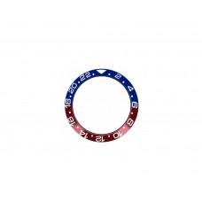 Inserto in ceramica blu rosso compatibile per ghiera Rolex GMT Master II 126710BLRO RLX