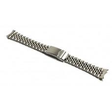 Cinturino orologio jubilee acciaio inox ansa curva 20mm deployante jm309 compatibile rolex