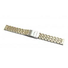 Cinturino in acciaio inox bicolor ansa dritta 18mm cm900 XL watch starp