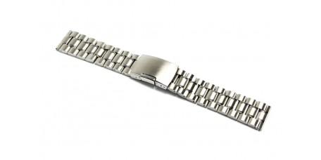 Cinturino per orologio acciaio inox pieno 22mm bracciale chiusura laterale