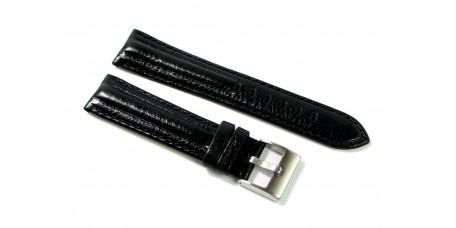 Cinturino per orologio in VERA PELLE DI CERVO imbottito nero 22mm