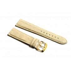 Morellato cinturino per orologio in VERA PELLE DI COCCODRILLO beige 22mm