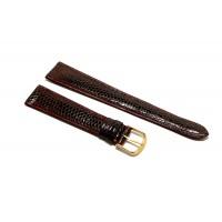 Cinturino per orologio Vintage in VERA PELLE DI LUCERTOLA piatto bordeaux 20mm