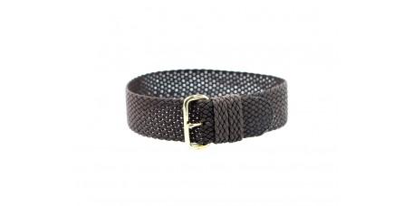 Cinturino per orologio perlon tessuto cordura nylon marrone oro 18mm kanvas telato watch strap