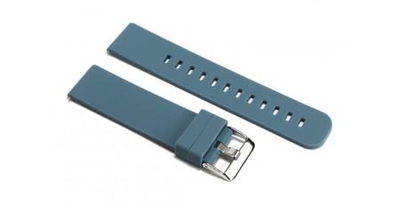 Cinturino per orologio in silicone blu marino piatto 24mm gomma caucciù watch strap