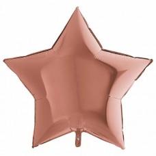 palloncino metal a forma di stella rosa gold