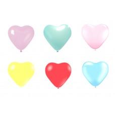 kit 6 palloncini pastello in lattice a forma di cuore colorati 5 pollici - 13 cm