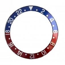 Inserto bu rosso indici argento compatibile per ghiera Rolex GMT Master II 16700-6 16710 RLX