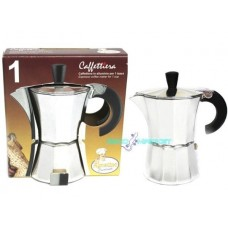 Agostino caffettiera moka alluminio per 1 tazza espresso coffee maker for 1 cup