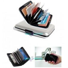 Portafoglio astuccio porta carte di credito portafoglio argento impermeabile