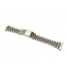 Cinturino orologio jubilee acciaio inox ansa curva 17mm deployante tipo rolex