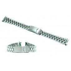 Cinturino orologio president acciaio inox ansa curva 17mm tipo rolex watch strap