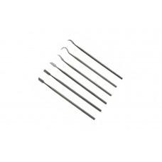Kit 6 pezzi set Intagliatori cera lavorazione intaglio scultore acciao
