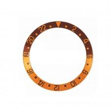 Inserto marrone oro compatibile per ghiera GMT Master 16753-5 16758 RLX