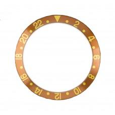 Inserto marrone indici oro compatibile per ghiera Rolex GMT Master 16718-3 RLX