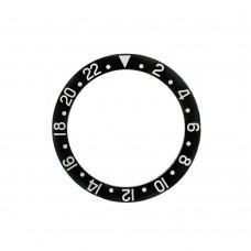Inserto nero indici argento compatibile per ghiera Rolex GMT Master II 1675 16750-1 RLX