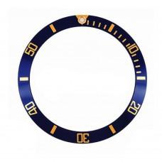 Inserto blu indici oro compatibile per ghiera Rolex Submariner 1680-2 RLX