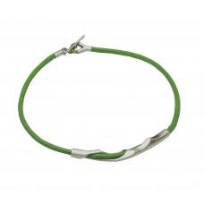 Breil collana unisex steel rose acciaio e cordoncino 2111020304 listino 92,00