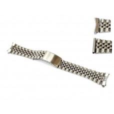 Cinturino orologio jubilee acciaio inox ansa curva e/o dritta 12-14mm deployante