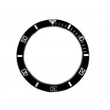 Inserto nero indici argento compatibile per ghiera Rolex Sea Dweller 16600 16660-81 RLX
