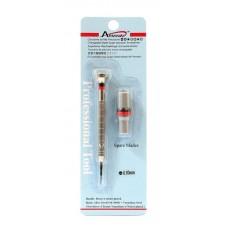 Cacciavite di precisione 0,80mm + 2 lame ricambio in blister acciaio per orologi
