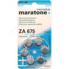 6pz batteria per apperecchio acustico renata maratone za675 pr44 auricolare