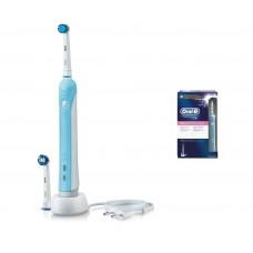 Spazzolino elettrico per denti braun oral b professional 800 sensitive clean ricaricabile portatile