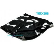 Coperta pile per cane  nero 115x98 lavabile cuccia plaid copridivano gatto