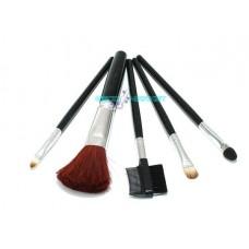 Set pennelli trucco mini pennello kit 5pz make up ombretto ciglia labbra fard