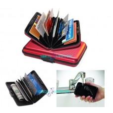 Portafoglio astuccio porta carte di credito portafoglio rosso impermeabile