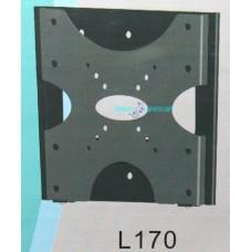 """Staffa da parete per tv lcd plasma da 10"""" a 37"""" l170 supporto fisso 35kg"""