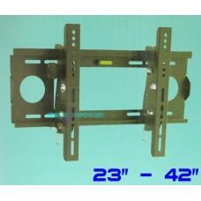 """Staffa da parete per tv lcd plasma da 23"""" a 42"""" ptb-102st supporto inclinabile"""