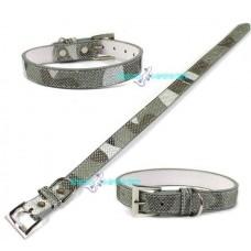 Collare collarino grigio brillantinato pet per cani medio- piccola taglia 42cm