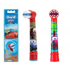 2 testine oral-b spazzolini ricambio stage power cars originali braun testina