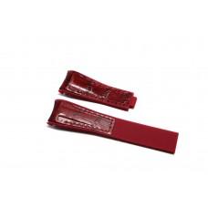 Cinturino ibrido pelle silicone bordeaux compatibile orologio Rolex - Omega 20mm curva caucciu' gomma watch strap