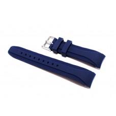 Cinturino in silicone bianco giallo compatibile orologio Rolex - Omega 20mm curva caucciu' gomma watch strap