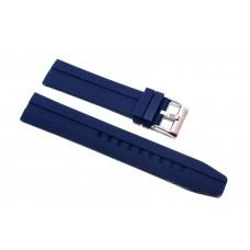 Cinturino in silicone bianco nero compatibile orologio Rolex - Omega 20mm curva caucciu' gomma watch strap