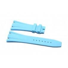 Cinturino in gomma celeste per orologio 28mm compatibile Audemars Piguet ROYAL OAK 41mm silicone caucciù