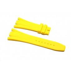 Cinturino in gomma giallo per orologio 28mm compatibile Audemars Piguet ROYAL OAK 41mm silicone caucciù