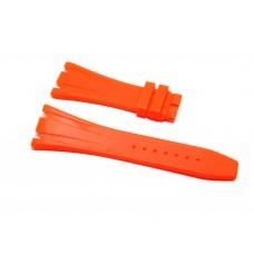 Cinturino in gomma arancio fluo per orologio 28mm compatibile Audemars Piguet ROYAL OAK 41mm silicone caucciù