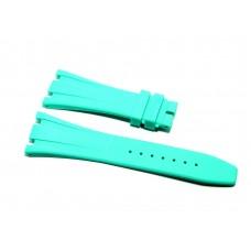 Cinturino in gomma acqua marina per orologio 28mm compatibile Audemars Piguet ROYAL OAK 41mm silicone caucciù