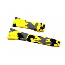 Cinturino in gomma mimetico giallo per orologio 28mm compatibile Audemars Piguet ROYAL OAK 41mm silicone caucciù