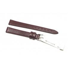 Morellato cinturino per orologio in vera pelle liscia bordeaux 10mm piatto FIBBIA DORATA