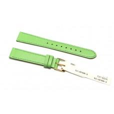Morellato cinturino per orologio in vera pelle liscia verde 16mm piatto
