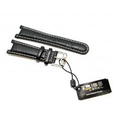 Breil Tribe TW0154 originale cinturino per orologio in vera pelle nero 17-23mm