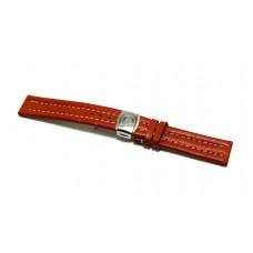Philip Watch originale cinturino per orologio in vera pelle marrone 20mm deployante
