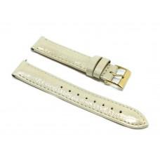 Cinturino orologio guess originale pelle e tessuto color oro brillantinato ansa 16mm