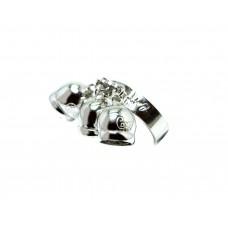 Anello Capri con 3 pendoli in argento puro 925 campane campanelle 13 regolabile