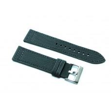 Cinturino  orologio in cordura grigio fondo pelle 18mm kevlar tela nato 416 watch strap